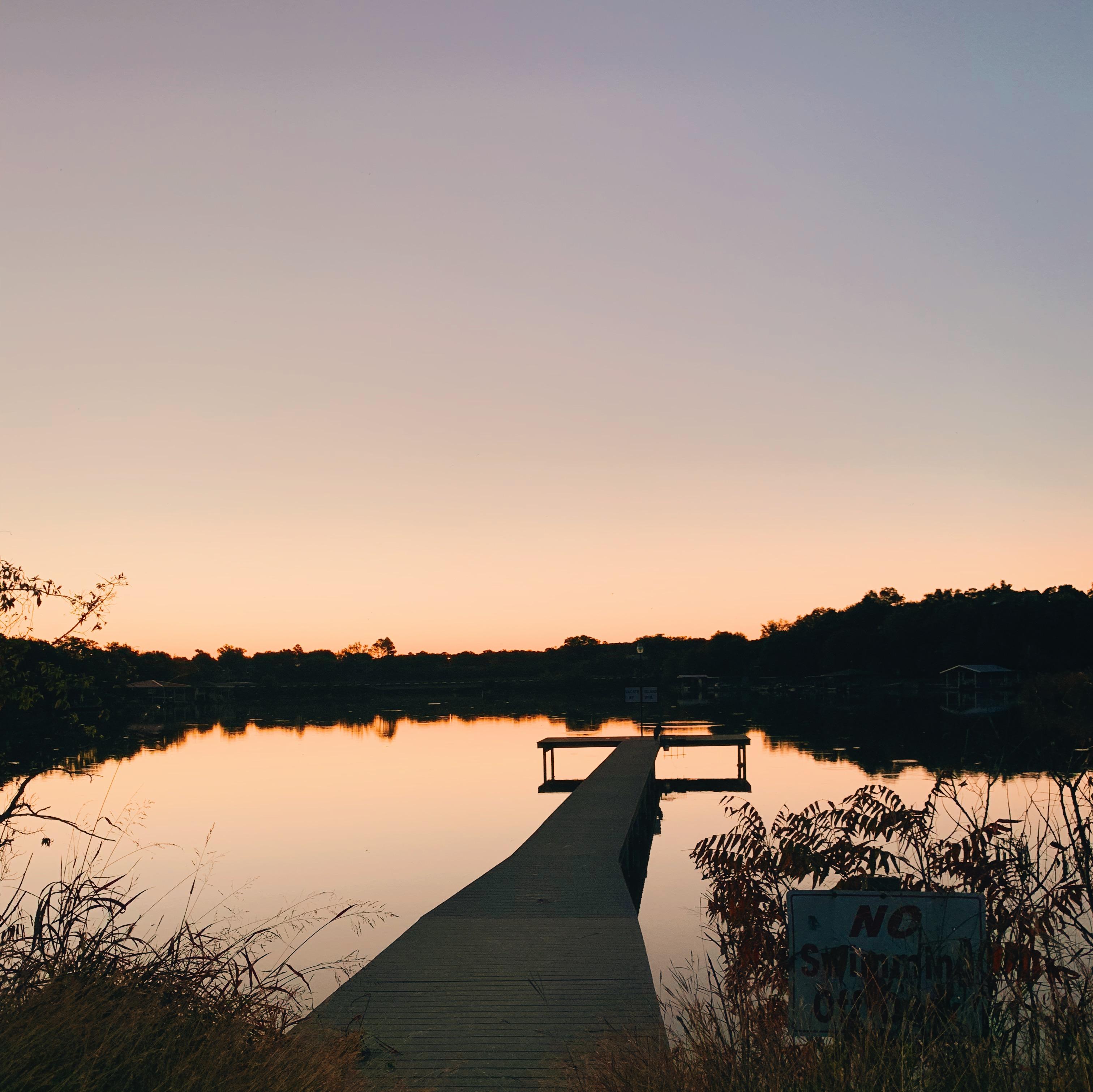 Sunrise over Lake Granbury Texas