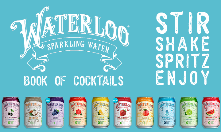 Waterloo Sparkling Water Cocktail Recipe Book